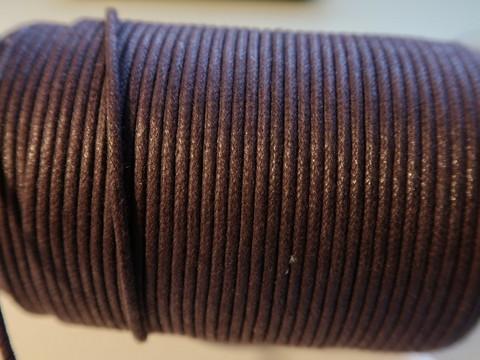 Puuvillanauha vahattu tumma violetti n. 2 mm (m-erä 1 m)