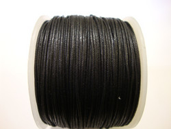Puuvillanauha vahattu musta n. 0,5 mm (m-erä 1 m)