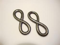 TierraCast Korulinkki Infinity musta 31,5 x 12 mm