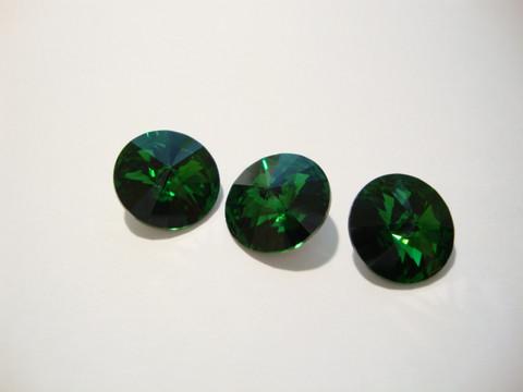 Swarovski kristalli rivoli sammalenvihreä pyöreä 12 mm