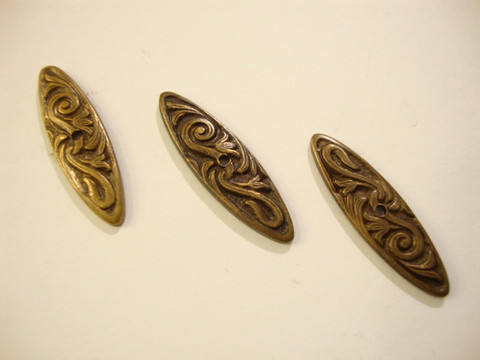 Vintaj Nouveau Swirls Creative Bar -salpa 26 x 8 mm