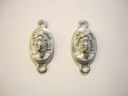 Vintaj Camee riipus/linkki hopeanvärinen 26 x 12 mm