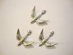 Vintaj lintunen hopeanvärinen 17 x 17 mm
