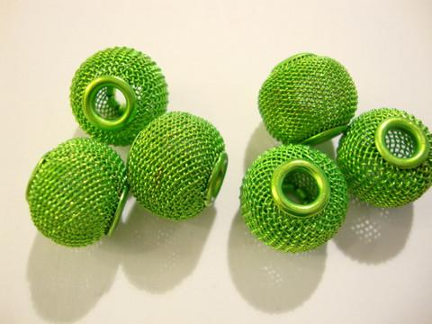 Verkkohelmi/punoshelmi teräs limenvihreä 13 x 16 mm, reikä n. 5 mm