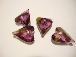 Swarovski kristalli sydänriipus lila kultapinnoitteinen 17 x 14 mm mm