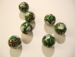 Cloisonne helmi vihreä pyöreä 12 mm (5/pss)