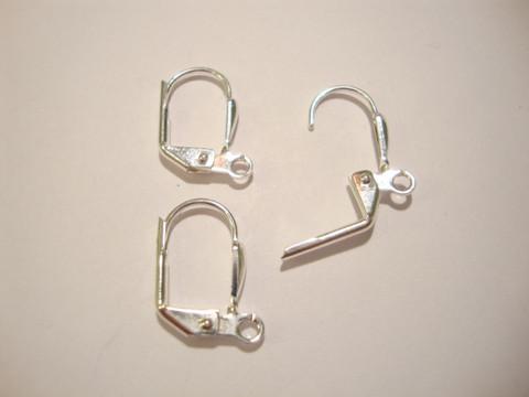 Korvakorukoukku klipsillä suljettava hopeoitu 16 x 10 mm (10 kpl/pss)