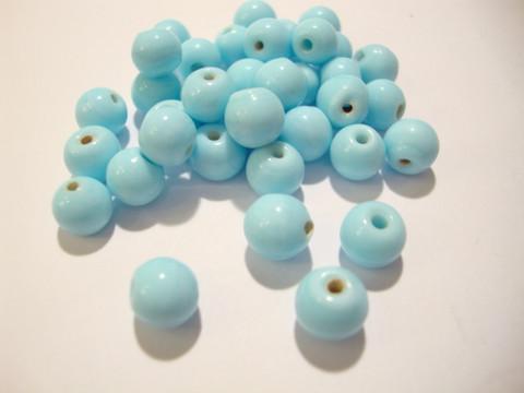 Opaakki lasihelmi vaaleansininen pyöreä 6 mm (30 kpl/pss)
