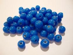 Opaakki lasihelmi tummansininen pyöreä 6 mm (30 kpl/pss)