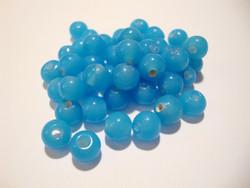 Opaakki lasihelmi turkoosi pyöreä 6 mm (30 kpl/pss)