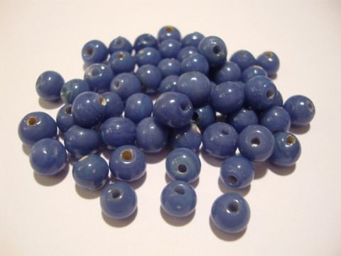 Opaakki lasihelmi violetti pyöreä 6 mm (30 kpl/pss)