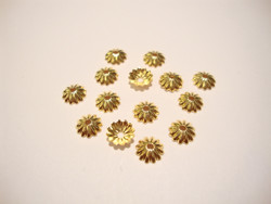 Helmihattu kullattu uritettu 6 mm (10 kpl/pss)