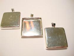 Riipus / kuvakehys hopeanvärinen 26 x 26 x 4 mm (5 kpl/pss)