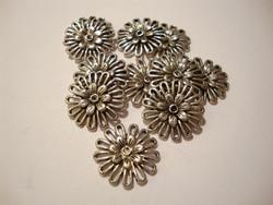 Korulinkki / riipus antiikkihopeanvärinen Kukka 15 mm