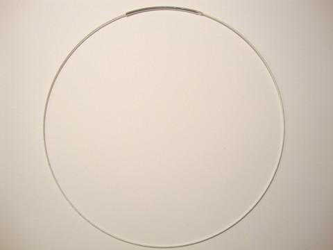 Valmis vaijeri kaulakoruun 45 cm x 1 mm hopea