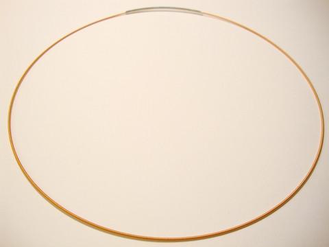 Valmis vaijeri kaulakoruun 45 cm x 1 mm terra/oranssi