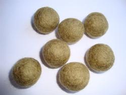 Huovutettu helmi oliivin/vihertävän ruskea n. 23 mm (5 kpl/pss)