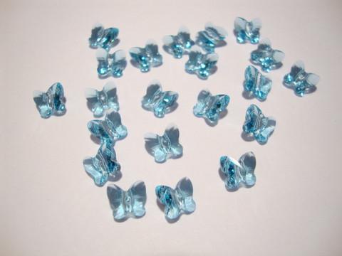 Swarovski kristallihelmi akvamariinin sininen perhonen 6 mm (2 kpl/pss)