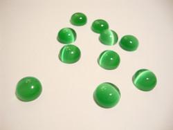 Kapussi smaragdin vihreä kissansilmälasi puolipyöreä 6 mm (10 kpl/pss)