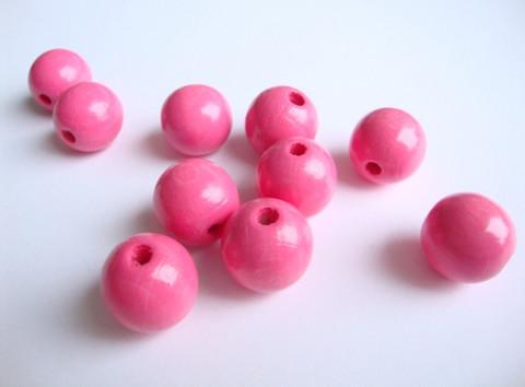 Rayher Puuhelmi pinkki pyöreä 14 mm (18 kpl/pss)