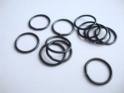 Vintaj välirengas 15 mm musta (6 kpl/pss)
