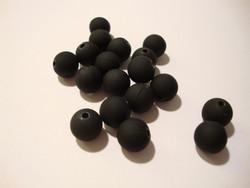 Akryylihelmi matta musta (rubberized) 10 mm (6/pss)