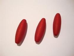 Polarishelmi rubiinin punainen matta ovaali 30 x 10 mm