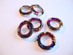 Swarovski kristalli Volcano Cosmic Ring 14 mm