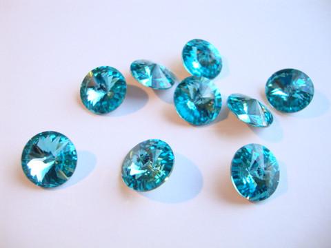 Swarovski kristalli rivoli turkoosi 12 mm