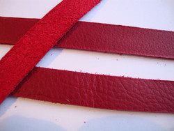 TierraCast Nahkanauha punainen 12,5 mm/pituus 25 cm