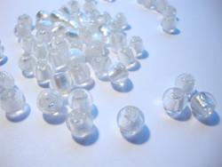 Folio lasihelmi valkoinen pyöreä 8 mm (10 kpl/pss)