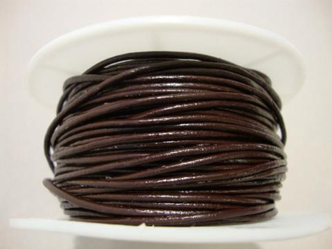 Nahkanauha pyöreä tummanruskea 1 mm (myyntierä 1 m)
