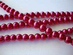 Helmiäislasihelmi tumman punainen (Garnet) 8 mm (26 kpl/nauha)