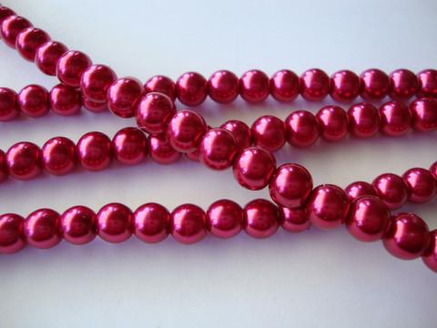 Helmiäislasihelmi tumman punainen (Garnet) 4 mm (n. 110 kpl/nauha)
