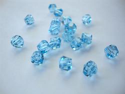 Swarovski kristallihelmi akvamariinin sininen Graphic 6 mm (2 kpl/pss)