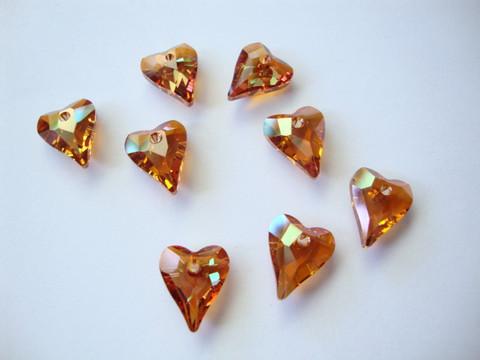 Swarovski kristalli sydänriipus kuparinvärinen Copper 12 mm
