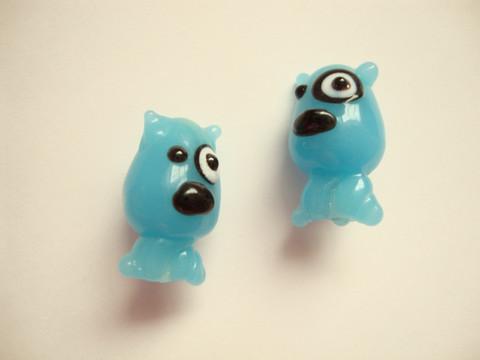 Lamppuhelmi Sininen Koira 22 x 13 mm
