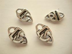 TierraCast nauhanpää Celtic hopeoitu  11 x 19 mm/reikä 2,5 mm (2 kpl/pss)