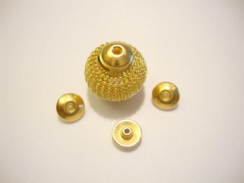 TierraCast Metallihelmi/bead aligner isoreikäisille helmille kullattu 8 mm (4 kpl/pss)