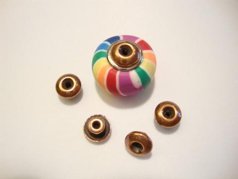 TierraCast Metallihelmi/bead aligner isoreikäisille helmille kuparinvärinen 7 mm (4 kpl/pss)