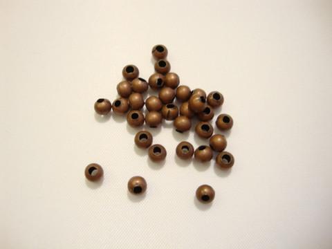 Metallihelmi pyöreä antiikkikuparinvärinen 3 mm ( 4 kpl/pss)