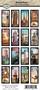 Kuva-arkki (collage sheet) World Tour, yksittäisten kuvien koko 47 x 21 mm (16 kuvaa/arkki)