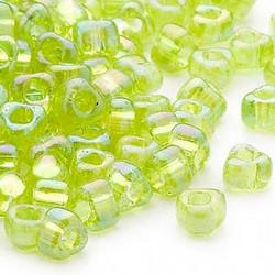 Miyuki siemenhelmi kolmio 4x4x3 mm Iris limen vihreä TR1153 (10 g/pss)