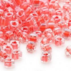 Miyuki siemenhelmi kolmio 4x4x3 mm kirkas -korallinpunainen sisus TR1111L (10 g/pss)