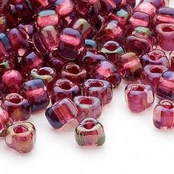 Miyuki siemenhelmi kolmio 4x4x3 mm violetti-ruusunpunainen TR1833 (10 g/pss)