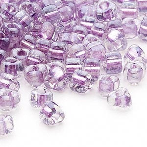 Miyuki siemenhelmi kolmio 4x4x3 mm kirkas-violetti sisus TR1113 (10 g/pss)