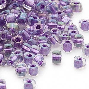 Miyuki siemenhelmi kolmio 4x4x3 mm violetti-tumma lila sisus TR1138 (10 g/pss)