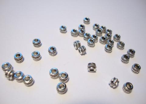 Metallihelmi/välihelmi (rondelli) antiikkipatina 4 x 3 mm (30 kpl/pss)