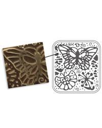 Vintaj DecoEmboss metallinpainolevy Butterfly Swirls