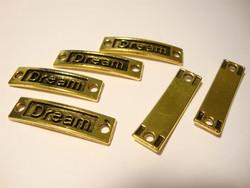 Korulinkki / riipus Dream antiikkikulta 9 x 35 mm, reikien halkaisija n. 2,5 mm (2 kpl/pss)